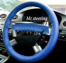 FITS FORD MONDEO MK3 REAL BLUE ITALIAN LEATHER STEERING WHEEL COVER