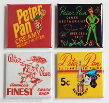Peter Pan FRIDGE MAGNET Set (1.5 x 1.5 inches each)