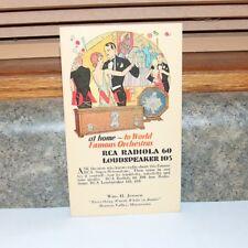 RCA Radiola 60 Radio Loudspeaker 103 Postcard- Unused -Browns Valley MN