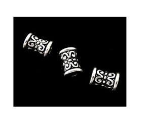 100 Tibetan Antiqued Silver 7x5mm Fancy Tube Spacer Metal Filigree Accent Beads