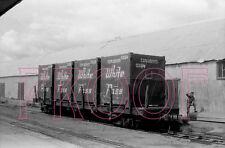White Pass & Yukon Railroad (WP&YR) Flatcar with Explosives at Whitehorse - 8x10