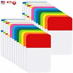 File Index Tabs 1 Inch Sticky Flags 480 Pcs Colored Page Markers Self Adhesive