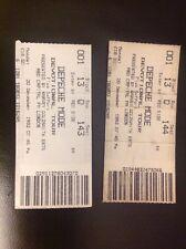 Depeche Mode - Wembley Arena Concert Ticket Stubs (x2) - 20th December 1993