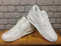 NIKE AIR MAX 90 CROSSTOWN WHITE LEATHER MESH TRAINERS BOYS GIRLS CHILDRENS