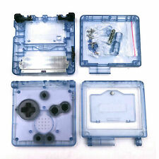 GBA SP Game Boy Advance SP Replacement Housing Shell Screen Clear Blue