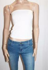 Colour Eighteen Designer White Bandeaux Tube Top Size S BNWT #SO14
