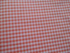 Orange small Check Gingham Cotton/Poly Fabric Sewing Material Quality.3mtr.
