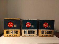 AC GM General Motors Oil Filter PF 30 NOS Lot of 3