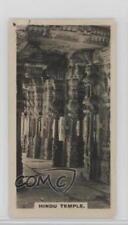 1925 Tobacco Base #18 Vijayanagar Interior of Hindu Temple Non-Sports Card 0w6