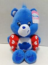 Care Bears Grumpy Bear Valentines Heart Blue Plush 2016 NWT Just Play