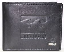 Men's Billabong Wave Black Leather Wallet. RRP  $49.99. NWOT.