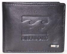 Men's Billabong Wave Black Leather Flip Wallet. RRP $49.99. NWOT.