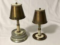 2 Vintage Tabletop Cigarette Dispenser Holder Lamp Style Spring Loaded Music Box