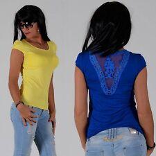 Figurbetonte hüftlange Damenblusen, - tops & -shirts mit U-Ausschnitt