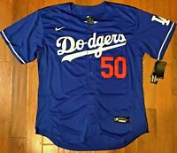 NEW! Los Angeles Dodgers #50 Mookie Betts Blue Jersey Mens XL 48