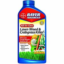 Bayer Advanced 704140 All-in-One Lawn Weed and Crabgrass Killer Concentrate, 32-