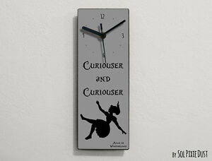 Alice in Wonderland - Curiouser and Curiouser - Wall Clock
