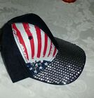 1 PATRIOTIC HAT NWT CLAIRE'S RED WHITE BLUE SEQUINS STARS STRIPE LADY USA