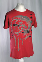 Diesel Only The Brave Single Stitch Short Sleeve T-Shirt Red Size Men's XL VGC!