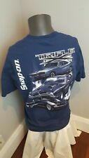 SNAP ON TRIPLE X MENS TSHIRT Size XL Navy Blue Dodge Muscle cars garage wear