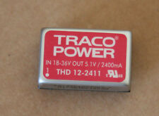 TRACO POWER THD 12-2411 ISOLATED DC/DC. 18-36V DC IN, 5.1V DC OUT AT 2.4A