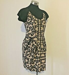 Designer Rebecca Taylor Silk Blend Animal Print Dress Size 10