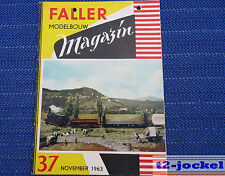 Faller  AMS --  Modellbau Magazin 37 von 1963 !
