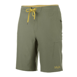 "50% Off HUK Freeman 21"" Boardshort--Fishing Short-Olive Green -Pick Size"