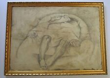 FELIX RECONDO PAINTING DRAWING LARGE ABSTRACT SURREALISM FIGURE EXPRESSIONIST