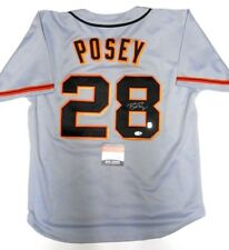 Beckett Witnessed Buster Posey Signed Autographed Baseball Jersey SF Giants BAS
