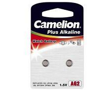 2 Stück Batterien Camelion Knopfzellen Plus Alkaline AG2 LR726 LR59 196 396
