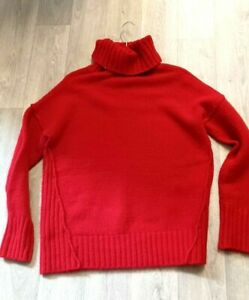 Adrienne Vittadini Wool Mix Oversize Jumper Red Size 10 Ladies Womens