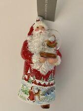 Patricia Breen Red Santa Ornament With Cloche