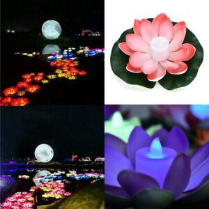 LED Lotus Light Waterproof Firefly Trendy Hip Unique Floating Pool Night Light