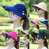 Women Ladies Sun Hat Summer Wide Brim Foldable Anti-UV Beach Flower Cap Visor