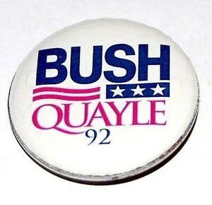 1992 GEORGE H. W. BUSH QUAYLE campaign pin pinback button political presidential