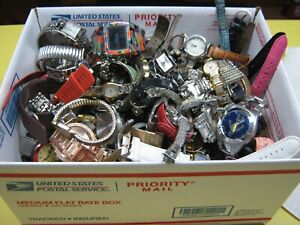 Nice 12 Pound Lot of Untested Watches for Parts, Repair, Resale or Wear - B8