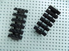 Lego Parts for The Black Pearl 4184 Black Stairs 7x4x6 Straight Open 30134 x2