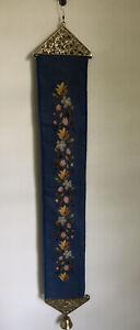 """Vintage Needlepoint Bell Pull  Floral Design 38"""""""
