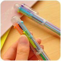 4X 6 in1Schreibwaren Stift Mehrfarbig Study Büro Kugelschreiber Ges NEUfür F6C5.