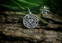 Small Silver Celtic Triskelion or Triskele Pendant --- Gaelic/Irish/Viking/Norse