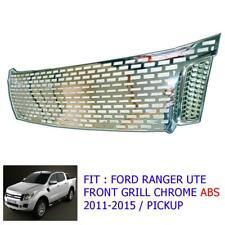 Fit 11-14 Ranger Ute T6 Pickup Front Grill Abs Chrome Premium Wildtrak Xlt