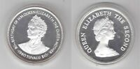 TUVALU - SILVER PROOF 10$ DOLLARS COIN 1980 YEAR KM#11 QUEEN MOTHER