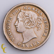 1858 Canada 10 Cents Silver Coin In XF, KM# 3
