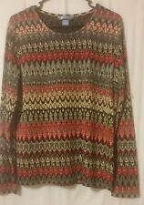 KORET - Multi-color Long Sleeve Knit Top Size M       FS4