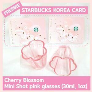 Cherry Blossom shot glasses shot glass 1 oz 30ml + Starbucks Korea Card Freebie