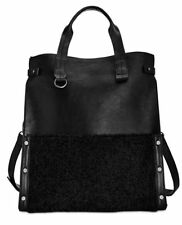 Danielle Nicole $88 NWT Minx Tote Black Crossbody Faux Shearling Handbag Purse