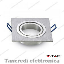 Portafaretto da incasso orientabile 1 faretto V-TAC VT-782 quadrato alluminio