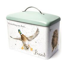 Wrendale Tin Bread Bin Storage Duck, Hare & Owl