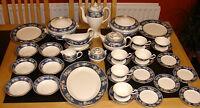 WEDGWOOD ' BLUE SIAM '  TEA SET AND TABLEWARE - ENGLISH BONE CHINA